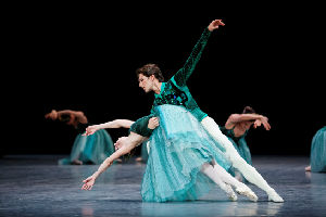 Laetitia Pujol and Mathieu Ganio and Etoile dancers of the Paris Opera Ballet in Emeralds from JEWELS